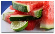Tequila soaked watermelon wedges