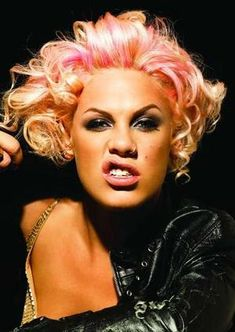 Pink...singer, songwriter, dancer, feminist, all around gorgeous, talented young woman.