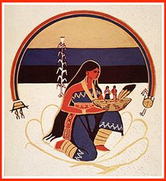 Changing Woman (Rainbow, Silver and Crystal) Navaho Creation Native Art, Native American Art, Navajo Women, Navajo Art, Cowboys And Indians, Ap Art, Divine Feminine, First Nations, African Art