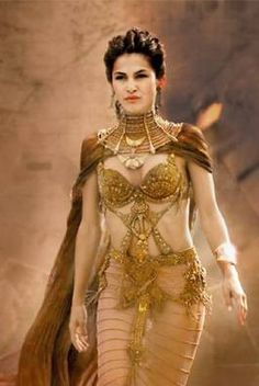 Gods of Egypt Elodie Yung, Movie Costumes, Cosplay Costumes, Gods Of Egypt Movie, Egyptian Movies, Royal Dresses, Fantasy Dress, Fantasy Clothes, Egyptian Goddess
