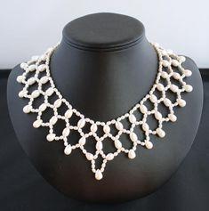 742fcb8452a6 Collar de agua dulce Collar de perlas - joyas de plata León