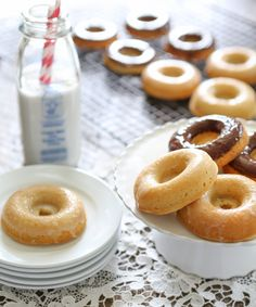 Grain Free DonutsIngredients 1 1/2 cup Blanched Almond Flour 1/2 cup Arrowroot Flour 3 tsp Baking Powder, Hain brand 1/2 tsp Salt 2 Eggs, Pastured 1/2 cup Maple Syrup, Grade B 1 tsp Pure Vanilla Extract 3/4 cup Coconut Milk 3 Tbsp Coconut Oil, Organic, melted 1 cup Chocolate Ganache, Split recipe in half if using for half of the donuts. Use full recipe if using on all donuts. 2/3 cup Lemon Glaze...