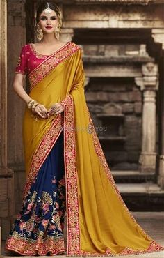 7b4411aed94578 495 Best Half Saree Blouse Designs images in 2018 | Art silk sarees ...