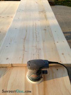 making wood countertops - SawdustGirl.com