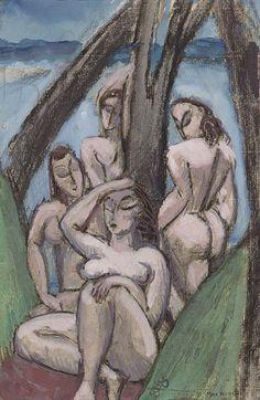 Max Weber (1881-1961), Untitled (Women in a Landscape), 1910