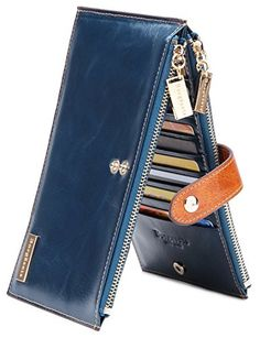 Borgasets Women's Genuine Leather Zipper Wallet Card Case Purse Reviews Wallets Product Features * Genuine Leather. * Measures 7.4 x 3.6 x 0.91 inches * 18 credit card pockets,2 zipper pockets * This is a powerful Card Case Wallets, with 18 Card slots, two zipper bag can put a mobile phone and $ ; Ultra-thin design, the whole bag l .. http://www.bestwomenbag.com/borgasets-womens-genuine-leather-zipper-wallet-card-case-purse-reviews/