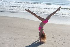 I wanna do a photo shoot at the beach with lots of tumbling tricks ;)