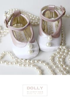 DOLLY by Le Petit Tom ® LUCY DOLL DRESS 4L white pearls Little Girl Shoes, Cute Baby Shoes, Baby Girl Shoes, Cute Little Girls, Kid Shoes, Girls Shoes, Me Too Shoes, Toddler Girl Style, Toddler Fashion