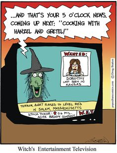 Today on Pop Culture Shock Therapy - Comics by Doug Bratton Halloween Cartoons, Halloween Fun, Halloween Humor, Funny Gags, Funny Memes, Hilarious, Hot Weather Humor, Pop Culture Shock, The Good Witch