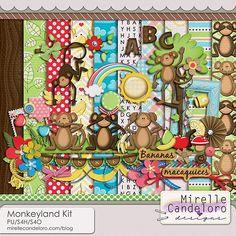 Memory Scraps :: Full & Mini Kits :: Monkeyland Kit
