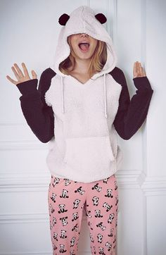 Winter Cute Hairball Panda Animals Hoodies Thicken Fleece Sweatshirts only… Cute Pijamas, Cute Pjs, Cute Comfy Outfits, Lingerie, Cute Shirts, Outfits For Teens, Sweaters For Women, Fashion Outfits, Clothes For Women