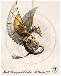 "Steampunk:  ""Steampunk Dragon,"" by Ironshod, at deviantART."