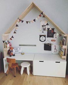 Inspiration: 7 practical ideas for a play corner - ikea kids - Playroom Design, Kids Room Design, Ikea Design, Ikea Stuva, Kids Corner, Kid Spaces, Kids Decor, Decor Ideas, Room Ideas