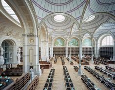 """nprfreshair: """"Ten years in the making, the former National Library of France has reopened after extensive renovations. Reading Room or """"Salle Labrouste."""" (Image via Marchand Meffre) """""""