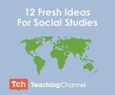 SocialStudies-12 Fresh Ideas for Social studies When it comes to lesson planning, it can be a challenge to make information feel fresh and exciting (for both teachers and students)... You probably won't be able to incorporate all of these resources into your classroom, but hopefully they'll spark your creativity and inspire you to think about your curriculum in a different way.