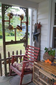 old screen door for porch privacy