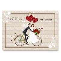 Cartão Mix Casamento bicicleta