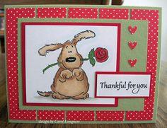 cute thankful card by Carol Longacre
