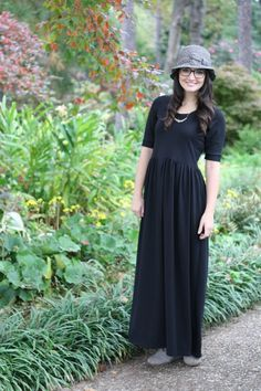 Black Maxi // The Out and About Dress