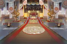Kaisar Fall in Love. Chinese Buildings, Chinese Architecture, Ancient Architecture, Fantasy Places, Fantasy World, Fantasy Art, Seshomaru Y Rin, Casa Anime, Anime Places