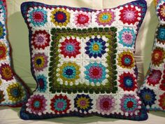 So beautiful! Crochet pillow cushions