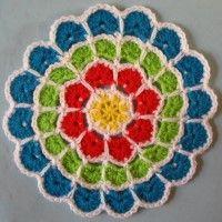 Crochet Mandala Wheel made by Tanya, Essex, for yarndale.co.uk