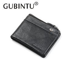 LAN men/'s leather  zipper wallet fashion short wallet european style purse