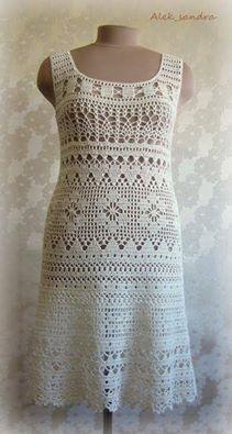 filet crochet dress