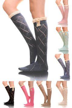 Like A Diamond Boot Socks from Closet Candy Boutique #fashion #shop