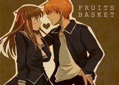 Kyo and Tohru- Fruits Basket Kyo And Tohru, Yuki Sohma, Awesome Anime, Anime Love, Fruits Basket Manga, Avatar, A Silent Voice, Cute Anime Couples, Noragami
