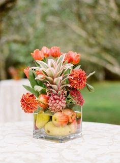 9 centros de mesa para bodas con frutas