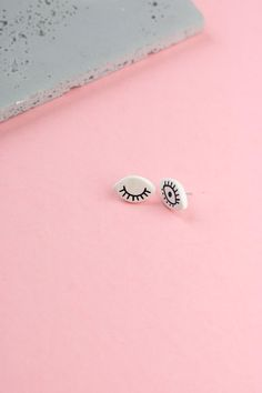 Mira Small stud earrings handcrafted & handpainted jewelry