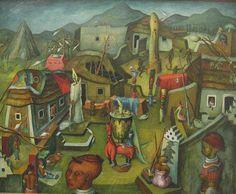 The Kraal, 1948, by Alexis Preller