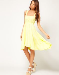 ASO Midi Summer Dress With Bow Back