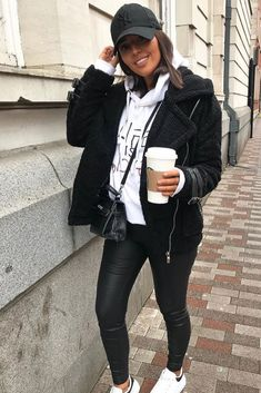 club Wood Working Mode Site - My Life ceaft Pinliy Winter Outfits For Teen Girls, Casual Winter Outfits, Winter Fashion Outfits, Outfits For Teens, Look Fashion, Fall Outfits, Uni Outfits, New York Outfits, Everyday Outfits
