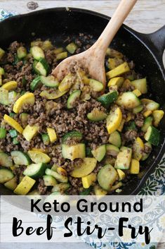 Ground Beef Recipes For Dinner, Dinner Recipes, Ground Beef Keto Recipes, Dessert Recipes, Clean Eating, Healthy Eating, Ground Beef Stir Fry, Ground Beef Meals, Ground Beef And Broccoli