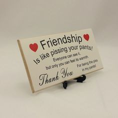 Best Friend Gift Funny Sign Birthday Present by Handmadeskproducts