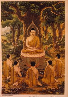 The Life of the Buddha (Thailand), the Buddha teaching his first disciples