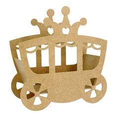 Productos - Carruaje Mdf 27X12cm 1Pz - Fantasias Miguel Cardboard Car, Cardboard Castle, Princess Birthday Party Decorations, Diy Party Decorations, Diy Party Crafts, Craft Party, Doll House Plans, Tree House Designs, Preschool Projects