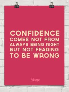 Confidence Tuesdays: Its Not the End of the World if your Wrong ~ Thirty One Ladies