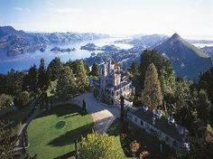 Larnach Castle.  Dunedin.  New Zealand.  I never forget waking up to these views and having hot tea.