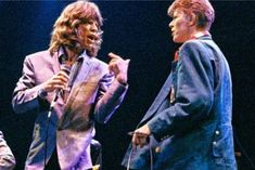 The Rolling Stones' Mick Jagger pays tribute to David Bowie on . Mick Jagger Rolling Stones, Los Rolling Stones, David Bowie, Keith Richards, Bob Dylan, Peter Griffin, Moves Like Jagger, Hot Stories, Thing 1
