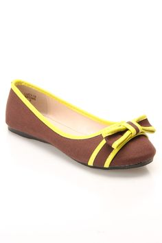 Pinky Lucy-18 Ballet Flat in Brown -