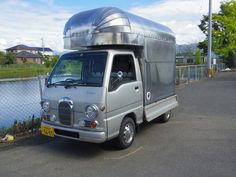 Food Vans, Mobile Shop, Mini Trucks, Camper Van, Food Truck, Cars And Motorcycles, Recreational Vehicles, Tube, Camping