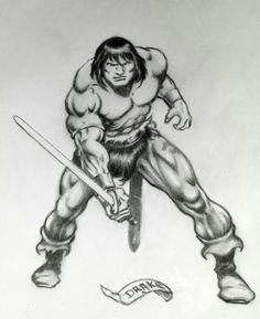 Conan by Drake after Buscema /Ernie Chan Arte Drake, Fantasy World, Fantasy Art, Sword And Sorcery, Conan, Comic Art, Art Drawings, Age, Superhero
