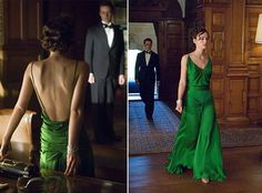 Keira Knightly wearing an Emerald dress in the movie Atonement- Pantone's Color of the Year for Spring 2013