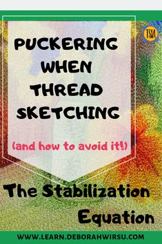Everything you need to know about stabilizing for thread sketching and thread painting. [A Thread Sketching Basics Course] Freehand Machine Embroidery, Free Machine Embroidery, Thread Painting, Thread Art, Sewing Ideas, Sewing Projects, How Do You Stop, Quilting Thread, Free Motion Quilting