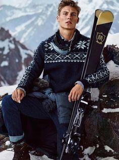 Mikkel Jensen by Hunter & Gatti for the Massimo Dutti's Apres Ski limited collection Fall Winter 2015 Campaign