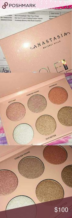 ABH X Nicole Guerriero Glow Kit Limited Edition 😭 This is a brand new, never swatched nor opened package.  Its the LIMITED EDITION AND SOLD OUT EVERYWHERE highlighter kit.  Bought from Sephora, have a reciept.  These particular pictures are of a kit i am keeping for myself, ones i am selling are unused.  *****NO TRADES***** *****NO TRADES*****   100000% AUTHENTIC. Sephora Makeup