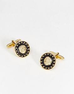 De fedeste ASOS Cufflinks In Black And Gold With Lion Design - Black ASOS Smykker & Ure til Herrer i dejlige materialer